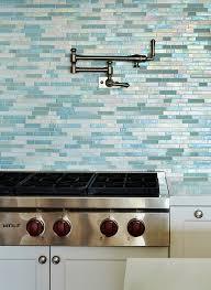 Beach House Kitchen With Turquoise Tile Coastal Style Kitchens - Sea glass backsplash