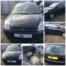 ford fiesta finesse 2004 1 3 blue 3 door manual petrol front