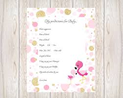 Download Baby Shower Games Baby Shower Game Baby Predictions Pink Printable Instant