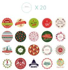christmas stickers box christmas gift sticker labels 38 designs christmas