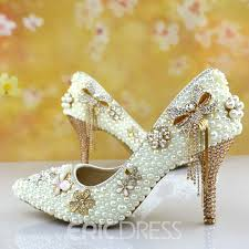 pearl wedding shoes ericdress chic pearl wedding shoes 11406529 ericdress