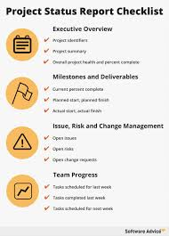 status update report template job proposal free project checklist