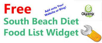 south beach diet food list widget u2013 glycemic index