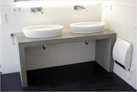 waschtische design badezimmer waschtisch beton mit doppel aufsatzwaschbecken für