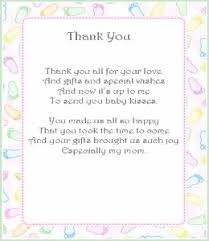 thank you baby shower thank you poems from baby i i already pinned this but can t