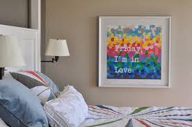 decor sanity it u0027s friday i u0027m in love scrapbook paper wall art