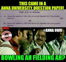 University Memes - anna university question paper comedy tamil memes