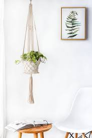 mkono macrame plant hanger hanging planter plants basket for