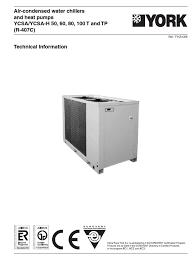ycsa 50 60 80 100 air conditioning heat pump