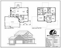 Floor Plans And Elevations Of Houses Millhaven Homes Semi Custom And Custom Floorplans