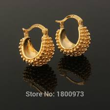 beautiful gold earrings images new vintage gold color beautiful flower hoop earrings fashion