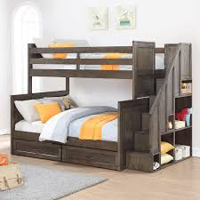 ryan twin over full staircase bunk bed