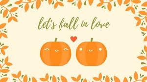 pumpkin fall desktop wallpaper templates by canva