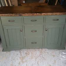 hand crafted distressed painted sideboard by jeremy belanger