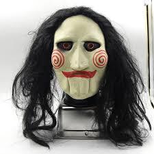 creepy mask jigsaw creepy scary clown mask rubber jig saw