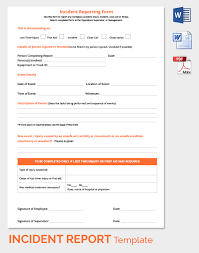 incident hazard report form template 24 incident report template free sle exle format free