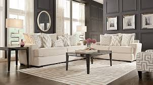Rooms To Go Living Room Furniture by Forsythe Cream 8 Pc Living Room Living Room Sets Beige