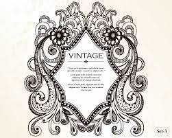 vintage heraldic shield with floral ornament vector set 3 vector