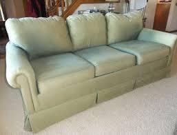 Green Sofa Slipcover by Linen Sofa Slipcover Makeover The Slipcover Maker