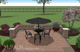 Backyard Brick Patio Design With Grill Station Seating Wall And by Extraordinary 70 My Patio Design Design Decoration Of Design