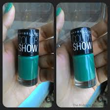 maybelline color show tenacious teal nail polish review the