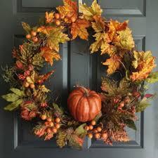 autumn harvest wreath pumpkin wreath fall door wreath