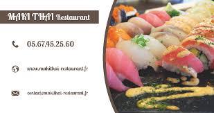 cours de cuisine tarbes maki thaï restaurant 5 cours de reffye 65000 tarbes adresse