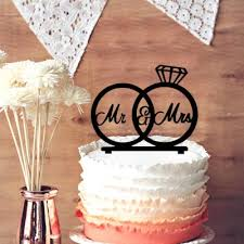 mr u0026 mrs silhouette wedding rings cake topper engagement rings