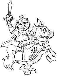 imprime le dessin à colorier de chevalier