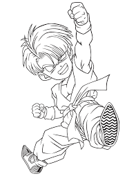 dragon ball kid trunks coloring u0026 coloring pages