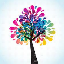 creative motley tree vector clipart image 21875 rfclipart
