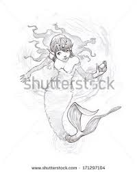 mermaid sketch stock images royalty free images u0026 vectors