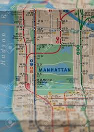 Subway Nyc Map Folded New York City Subway Map With Selective Focus On Central