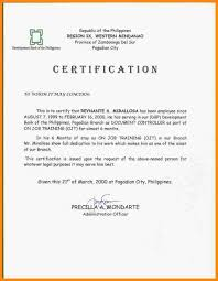 Sle Of Certification Letter Of Employment Certification Approval Letter 28 Images Installation Manuals