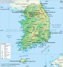 Picture Of A World Map by South Korea Map Map Of South Korea