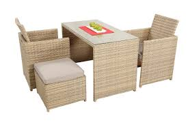 Patio Chairs With Ottomans by Cubix Sahara 2 Space Saver Dining Set Get Outside Furniture