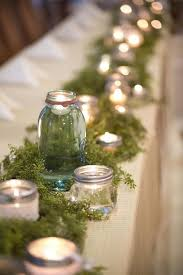 Using Mason Jars To Decorate For Christmas best 25 moss table runner ideas on pinterest moss centerpiece