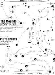 Oak Ridge Tennessee Map by Groves Park Professional Disc Golf Association