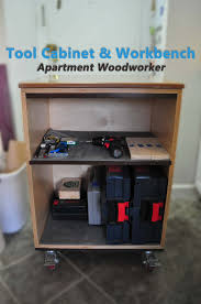 Wood Tool Storage Cabinets Tool Cabinet And Mobile Workbench By Apartment Woodworker Youtube
