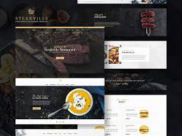 steakville restaurant template freebie download photoshop