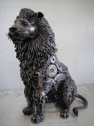 metal lion statue lion figure statue scrap metal size stuff to buy