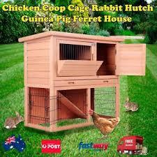 Flat Pack Rabbit Hutch Wide Range Chicken Coop Rabbit Hutch Ferret Guinea Pig Cage House