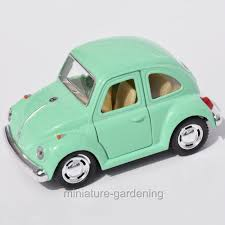 volkswagen beetle green miniature fairy garden vw beetle pastel color options ebay