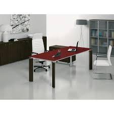 table de bureau en verre table bureau verre fill avec retour mobilier de bureau