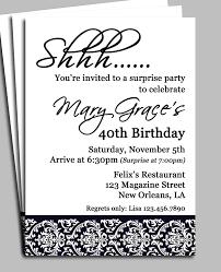 Invitation Card Example Surprise Birthday Party Invitations Themesflip Com