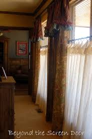 customizing pottery barn window treatments beyond the screen door