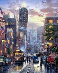urban landscape thomas kinkade discussion on liveinternet