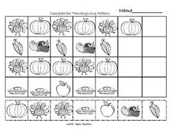 thanksgiving math patterns by susie teachers pay teachers