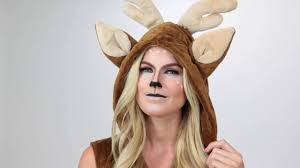 deer halloween makeup tutorial youtube