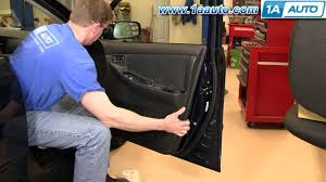 how to install replace door panel toyota corolla 03 08 1aauto com